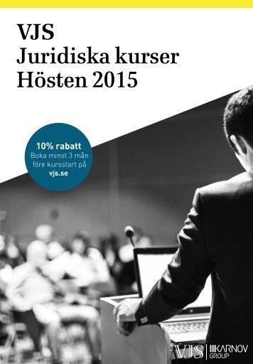 VJS Juridiska kurser Hösten 2015