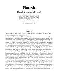 Plutarch - Platonic Philosophy
