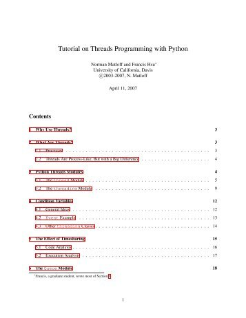 Tutorial on Threads Programming with Python