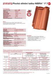Plochá střešní taška NIBRA® F 7 - Nelskamp