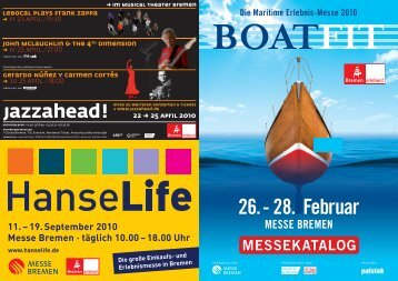 19. September 2010 Messe Bremen · täglich 10.00 - Boatfit