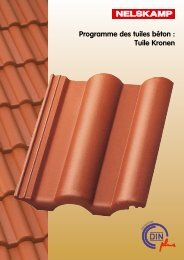 Programme des tuiles béton : Tuile Kronen - Nelskamp