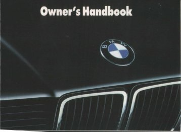 7-Series E32 Owner's Manual (1988)