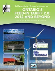 4th Annual Ontario's Feed In Tariff 2.0: 2012 and Beyond Brochure