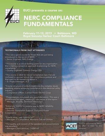 NERC Compliance Fundamentals Event Brochure - Feb 13 ... - Encari
