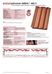 Strešnik NIBRA®-MS 5 - Nelskamp