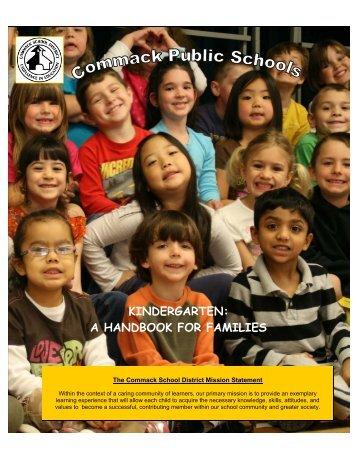 kindergarten: a handbook for families - Commack Union Free ...