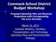 March 14 Presentation - Commack Union Free School District