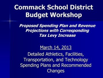 March 14 Presentation - Commack Union Free School District