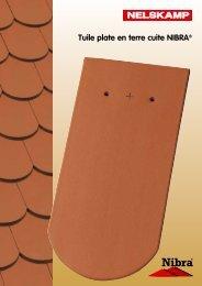 Tuile plate en terre cuite NIBRA® - Nelskamp