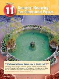 Chapter 11: Geometry: Measuring Two-Dimensional Figures