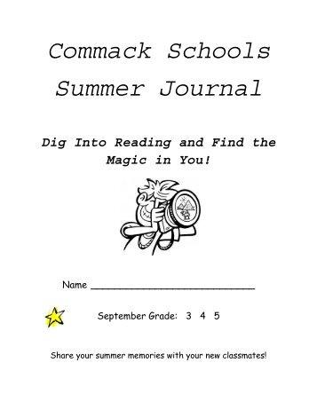Grades 3-5 Summer Journal - Commack Union Free School District