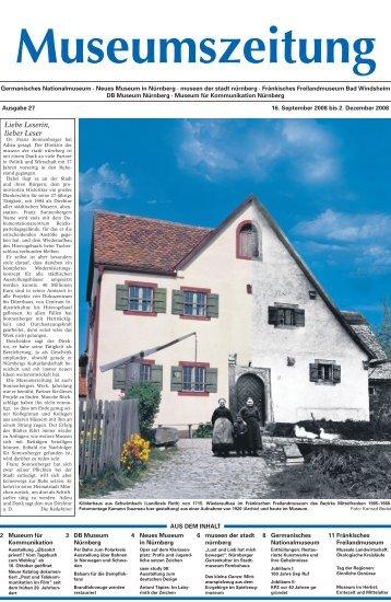 Museumszeitung, Ausgabe 27 vom 16. September 2008