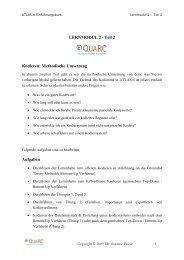LERNMODUL 2 - Qualitative Research & Consulting