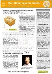 Nyhetsbrev Januari 2008 - InfoMentor