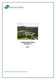 TOIMINTAKERTOMUS VUODELTA 2012 - Niuvanniemen sairaala