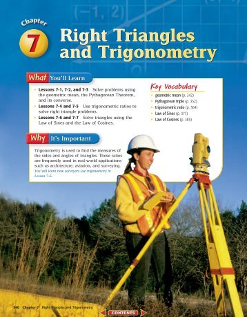 Chapter 7: Right Triangles and Trigonometry