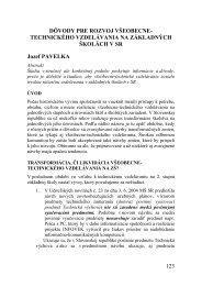 TECHNICKÉHO VZDELÁVANIA NA ZÁKLADNÝCH ŠKOLÁCH V SR ...