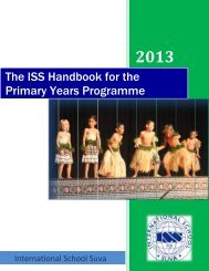 Primary Handbook - International School Suva