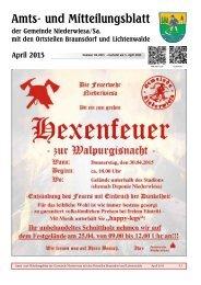 Amts- und Mitteilungsblatt April 2015