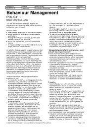 BEHAVIOUR MANAGEMENT POLICY - Bideford College Online