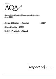 Art and Design – Applied (Specification 4207) 42071 Unit 1 ... - Frog