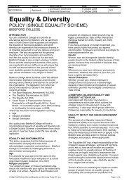 Equality & Diversity - Bideford College Online
