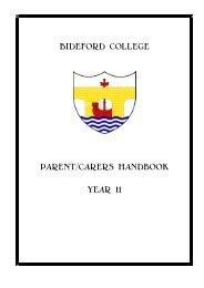BIDEFORD COLLEGE PARENT/CARERS HANDBOOK YEAR 11