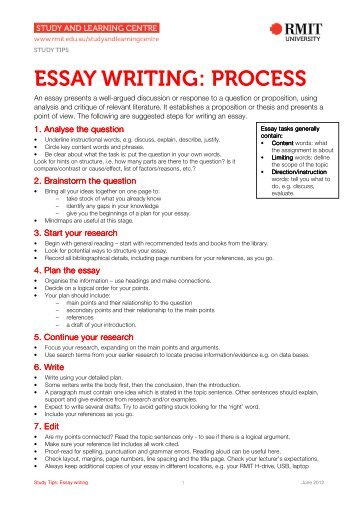 ESSAY WRITING: PROCESS