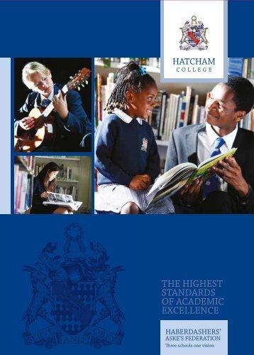 Hatcham College Prospectus - Haberdashers