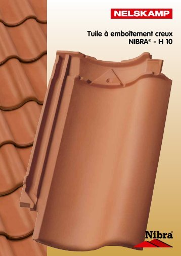 Tuile à emboîtement creux NIBRA® - H 10 - Nelskamp