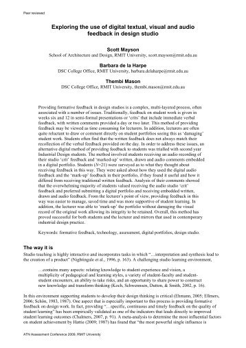 Exploring the use of digital textual, visual and ... - RMIT University