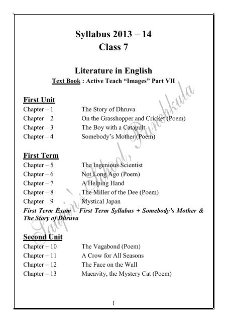 Class 6 English Chapter 1