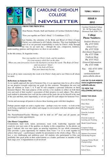 Issue 9 Term 2 2012.pub - Caroline Chisholm College