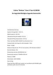 Cabina de Seguridad biológica Clase II Tipo A2 ... - instrumental cuyo