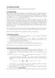 § 1) Statistik und Spiel - Mathematik