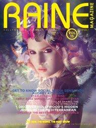 RAINE MAGAZINE Volume 15   Hollywood & Glamour