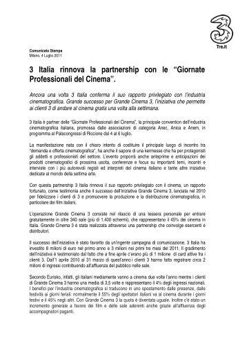 Comunicato Stampa - Milano, 4 Luglio 2011 - H3G