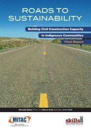 roads to sustainability - Major Industries Training Advisory Council