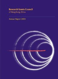 Research Grants Council of Hong Kong, China Annual Report