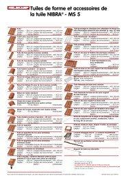Tuiles de forme et accessoires de la tuile NIBRA® - MS 5 - Nelskamp