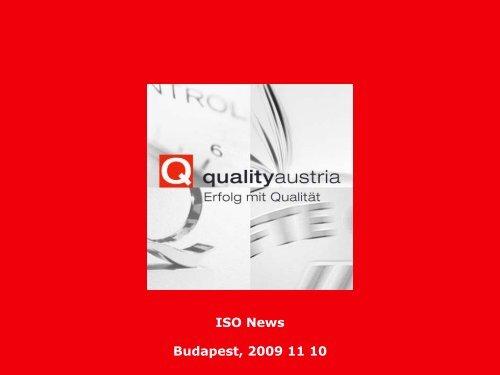 ISO News Budapest, 2009 11 10 - Quality Austria