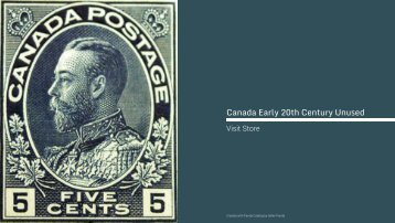 Canada Stamps • Early 20th Century, Unused
