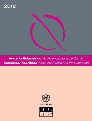 Anuario estadístico de América Latina y el Caribe = Statistical Yearbook for Latin America and the Caribbean 2012