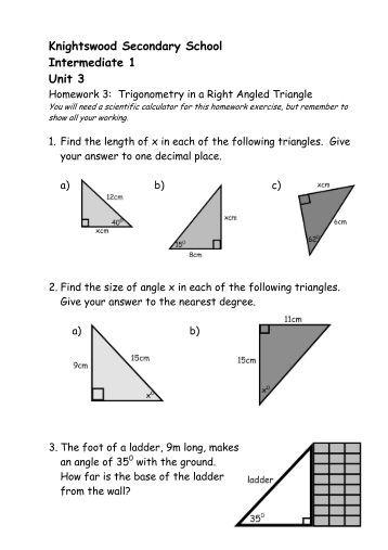 Secondary school homework