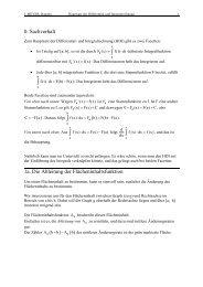 Hauptsatz der Differential- und Integralrechnung - mathematik ...