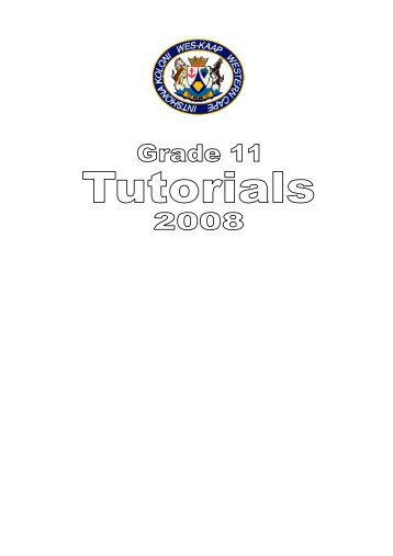 Grade 11 Tutorials - Maths Excellence