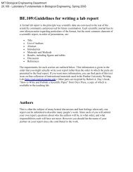 BE.109:Guidelines for writing a lab report - DSpace@MIT