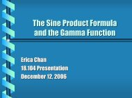 The Sine Product Formula and the Gamma Function