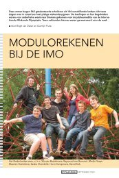 MODUlOREkENEN BIj DE IMO - Nederlandse Wiskunde Olympiade